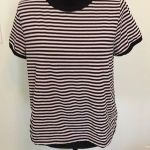 Black and White stripe Divided (H&M) Top